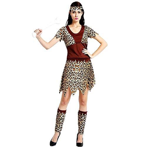 Pri05 - disfraz de mujer de la cueva primitiva - primates - habitantes de la cueva - picapiedra - disfraces de mujer - halloween - carnaval - talla nica - adultos - idea de regalo original cosplay
