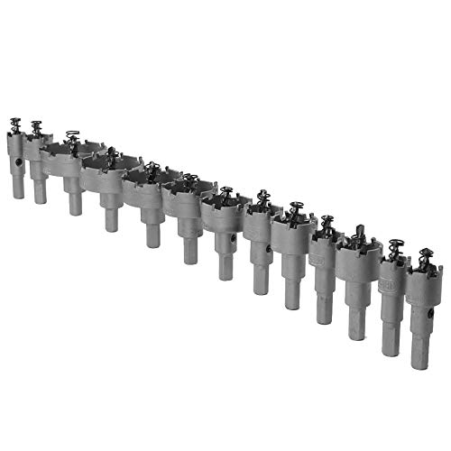 Juego de brocas de carburo con punta de 13 piezas de 16 – 53 mm para placa de hierro de acero
