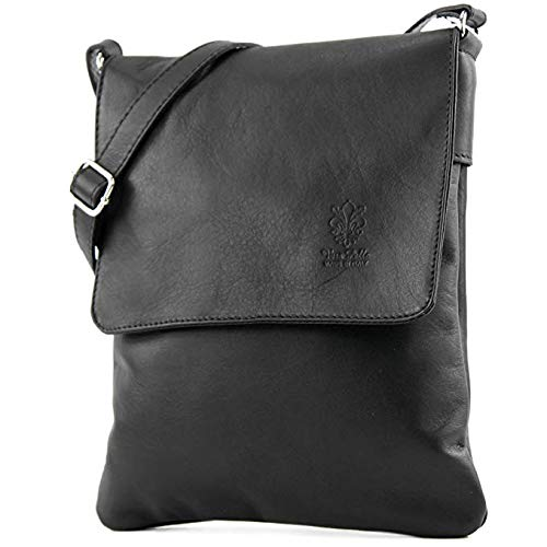 Craze London Genuine Italian Leather Verapelle Cross body Messenger Bag/Womens Ladies Verappele hand Bags (Black)