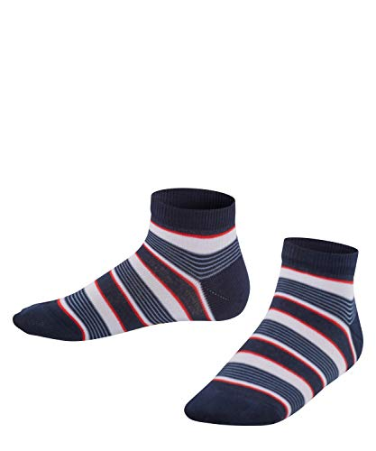 FALKE Kinder Sneakersocken Mixed Stripe - 81% Baumwolle, 1 Paar, Blau (Marine 6120), Größe: 27-30