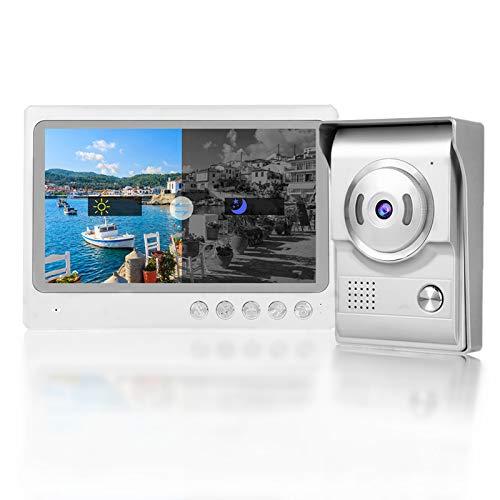 Timbre Inalámbrico,9in WIFI Video Intercom de Timbre Soporte IP65 Impermeable, Visión Nocturna, Sistema de Entrada de Grabación de Fotos 100-240V(EU)