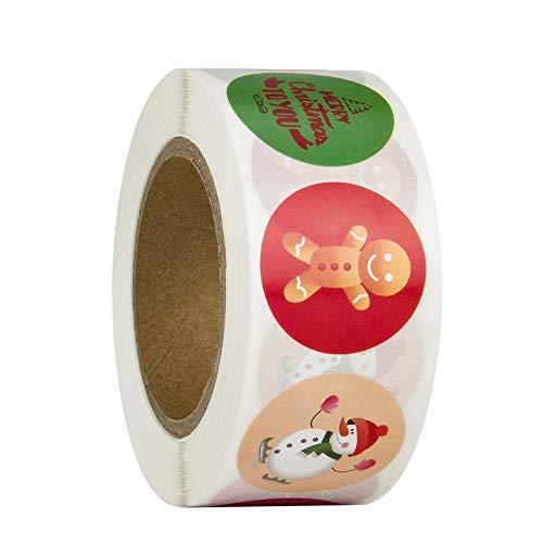 Etiquetas Adhesivas Navidad 500 Marca Lazz1on