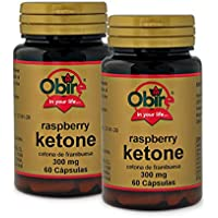 Ketonas de frambuesa 300 mg. 60 capsulas (Pack 2 unid.)