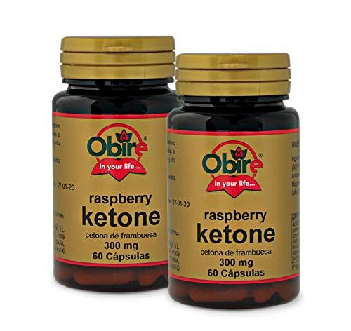 Ketonas de frambuesa 300 mg. 60 cápsulas (Pack 2 unid.)