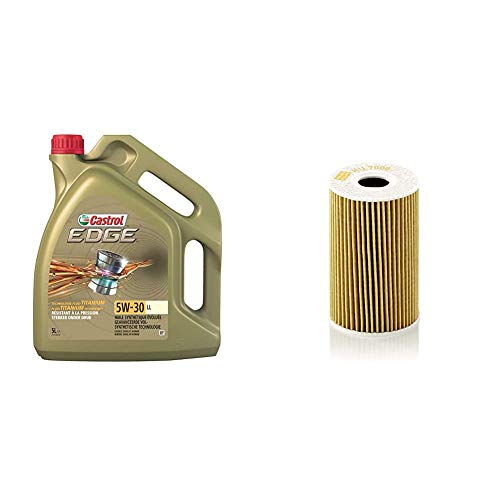 Castrol Edge 5W-30 LL Motorenöl 5L + Mann Filter Ölfilter HU 7008 Z