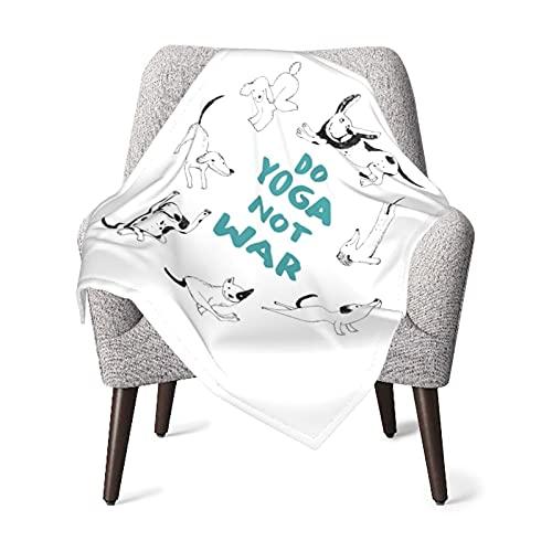 Dog Do Yoga Not War Baby Blanket Boys Soft Baby Blanket Fleece Baby Girl For Nursery Stroller Crib Receiving Blanket