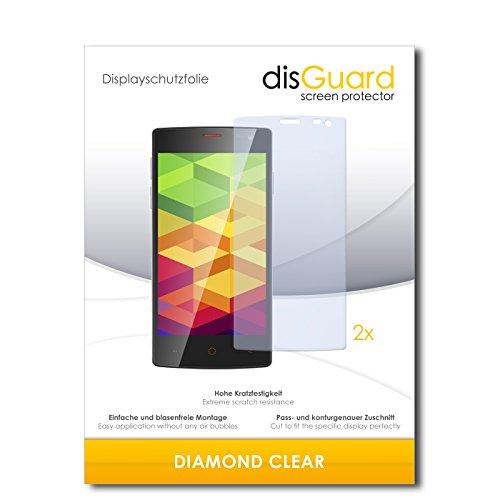 disGuard 2 x Bildschirmschutzfolie Ulefone Be X Schutzfolie Folie DiamondClear unsichtbar