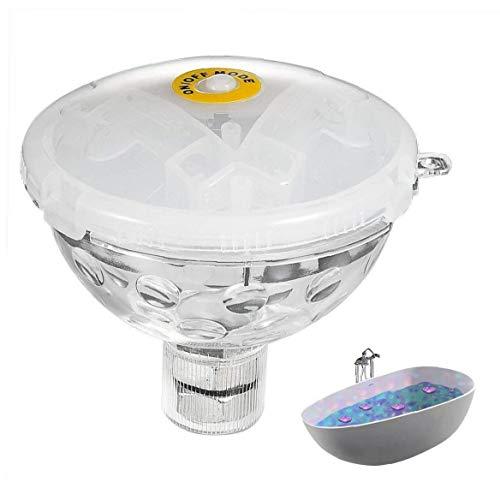 lujiaoshout Bad Beleuchtung Whirlpool Submersible glühend Unterwasser Disco-Lampe mit 5 Modi für Aquarium Pond Pool Spa Vase Basis Yard Supplies