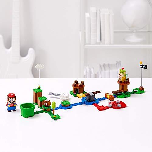 アクションに反応して、表情が変わる!おなじみの効果音が鳴る!LEGOとスーパーマリオがコラボ!