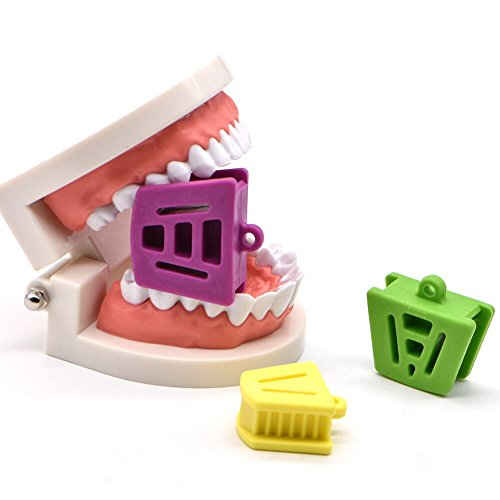 Angzhili Dental Silicone Mouth Prop Dental Bite Block Orthodontic Bite Blocks Dentistry Accessories (3 Pcs/Set)
