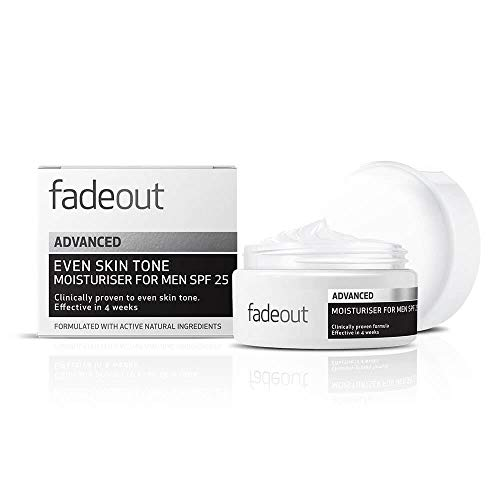 Fade Out Advanced Even Skin Tone Moisturizer for Men with SPF 25 -...