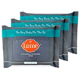 Lume Natural Deodorant Wipes, Flushable Body and Underarm Cleansing Wipes, 15 Count (Pack of 3)