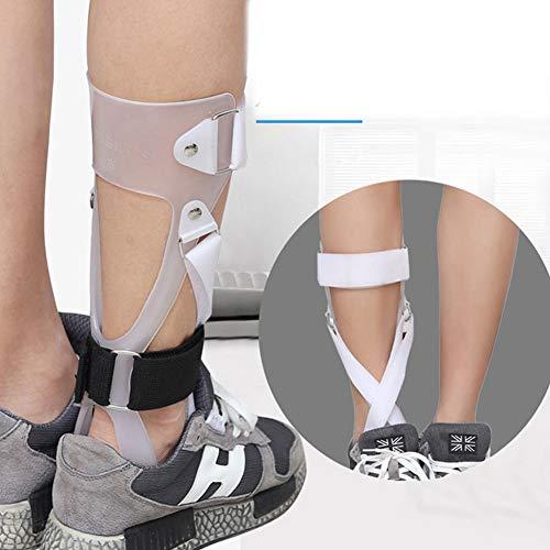 JM-D Orthèse de Pied Orthèse de Pied Tombant Orthèse correctrice de Posture Releveur Soutien de l'articulation de la Cheville Anti-Glisse, Tissu Composite,Right,M