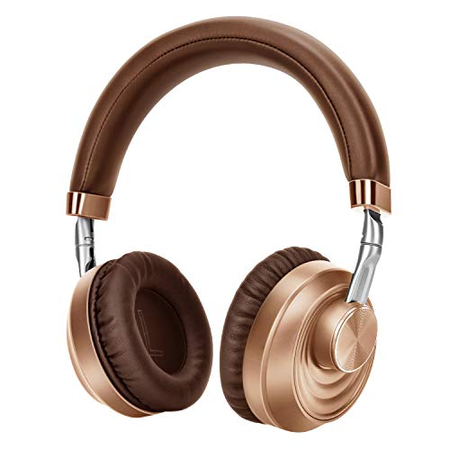 Knauue Bluetooth Headphones Over Ear, Comfortable Wireless Headphones, Rechargeable HiFi Stereo Headset, CVC6.0 Headphones with Microphone for Cellphone Tablet