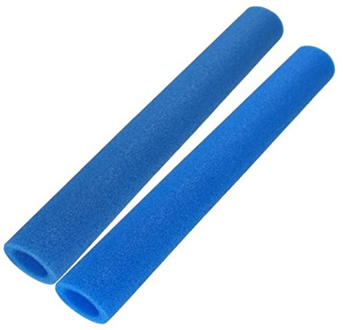 awshop24 16x Trampolin Schaumstoff blau 92 cm für 8 Stangen, incl. Endkappen