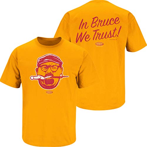 Tampa Bay Football Fans. Bucco Bruce Creamsicle Orange T-Shirt (Sm-5X) (Short Sleeve, 3XL)
