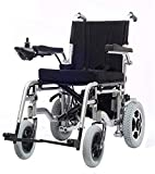 GQQ Wheelchairs,Lightweight Dual Function Foldable Power Wheelchair (Li-Ion Battery 20A), Drive with Electric...