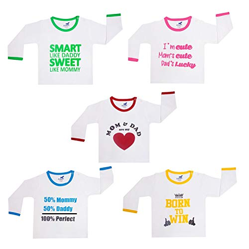 ZURA Export Quality Cotton Baby Tshirt/Baby Dress/Kids wear/Kids Tshirt/Boys Tshirt/Girls Tshirt (Pack of 5)