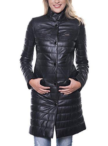 Giorgio Di Mare Mantel Women's Leather Jacket schwarz XL