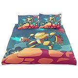 Juego de funda nórdica de dibujos animados Robot de dibujos animados War On Design Ropa de cama 3 juegos de PC 1 fundas nórdicas con 2 fundas de almohada Juego de cama de microfibra Accesorios de deco