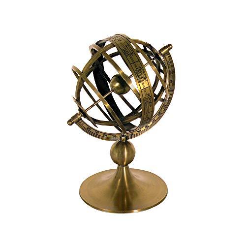 Vidal Regalos Reloj Solar Esfera Armilar Laton 22 cm