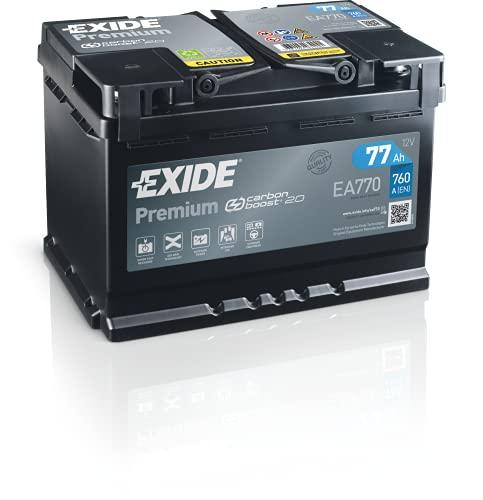 Exide EA770 Premium Carbon Boost Autobatterie 12V 77Ah 760A