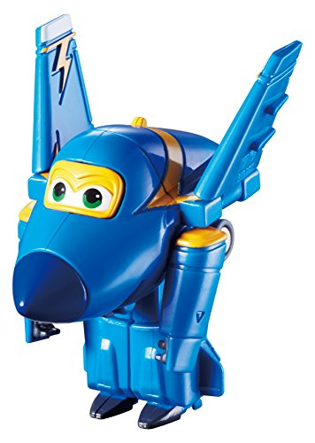 Alpha Animation & Toys- Super Wings YW710030 Mini Transform a Bots Jerome Flugzeug, Color negro, azul, amarillo ( , color/modelo surtido
