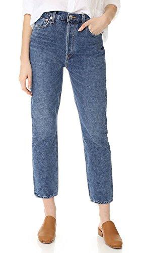AGOLDE Damen Riley High steigen gerade Ernte Jeans Blau 27