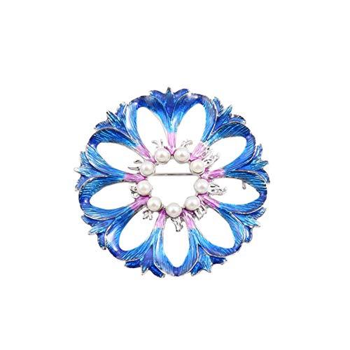 HUNANANA Fashion Women's New Jewelry Die Neuen Tropfen Emaille Emaille Strass Mantel Kleidung Wilden Temperament Brokat
