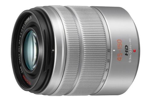 Panasonic H-FS45150E LUMIX G Vario Telezoom 45-150 mm F4.0-5.6 ASPH. Objektiv (90-300 mm KB, O.I.S. Bildstabiliator) silber