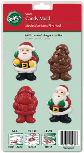Wilton - Stampo In Plastica Babbo Natale Per Caramelle E Cioccolatini