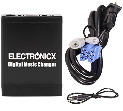 Electronicx Elec-M06-BLAU Adaptador de Radio para Coche USB, SD, AUX, MP3, CD, para Blaupunkt autoradio Cambiador de CD