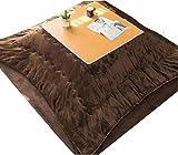 BESTPRVA Kotatsu Set de la Mesa de calefacción de Estilo japonés kotatsu Cubierta de la Tabla de la Tabla Kotatsu Kotatsu Mesa con Calentador y Manta Adecuada para Sala de Estar en Invierno