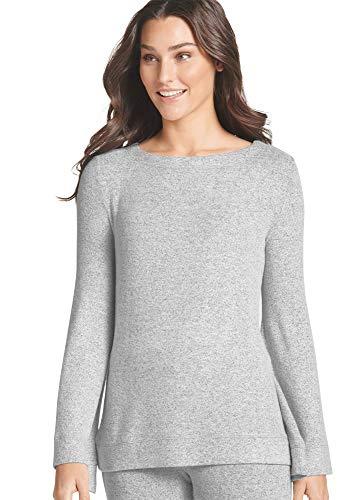 Jockey Women's Sleepwear Hot Cocoa Bell Sleeve Top, Mid Grey, 3XL