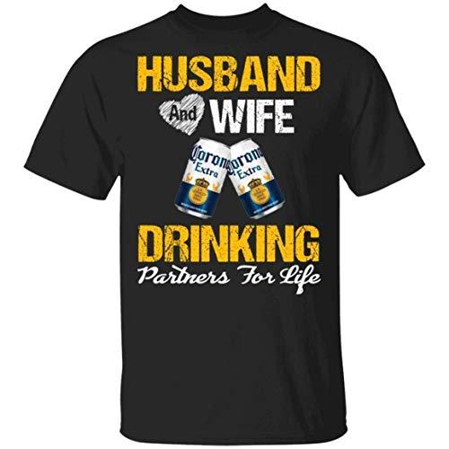 GGdjst Corona Extra Shirt Man en Vrouw Drinken Partners voor Life Beer T-Shirt