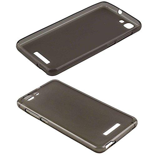caseroxx TPU-Hülle für Mobistel Cynus F10, Handy Hülle Tasche (TPU-Hülle in schwarz-transparent)