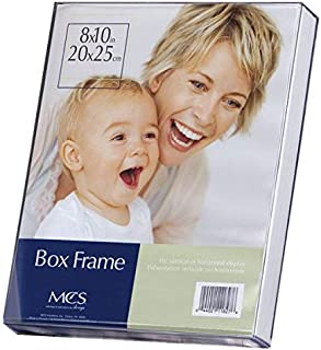 Crystal Clear Acrylic Box Picture Frame - Heavy Gauge Crystal Clear Acrylic w/White Insert Box for Displaying Photos or Artwork - [5