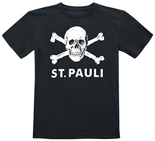FC St. Pauli Totenkopf Unisex T-Shirt schwarz 152