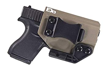Fierce Defender IWB Kydex Holster Compatible with Glock 43/43X -Paladin Series- Made in USA-  Flat Dark Earth