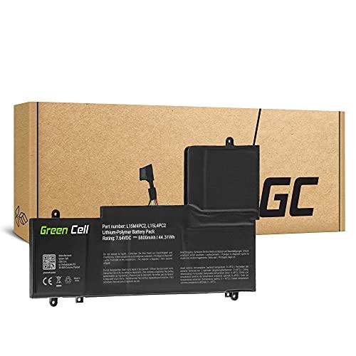 Green Cell Batería para Lenovo Yoga 710-14IKB 80V4 710-14ISK 80TY 710-15IKB 80V5 710-15ISK 80U0 Portátil (5800mAh 7.64V Negro)