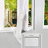 UPGRADE Gimars 400cm Guarnizione Universale da Finestre per Climatizzatori Mobili e Asciugatrici Adatta a Condizionatori Portatile Installazione Facile Senza Buchi Blocca L'aria Calda, Bianco