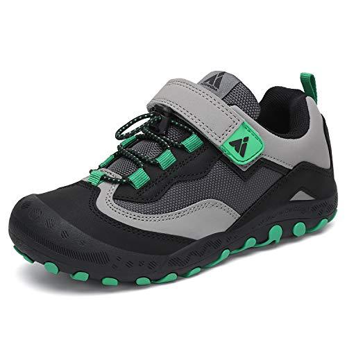 Mishansha Child Hiking Shoes Kids Trail Shoe Boys Outdoor Athletic Running Climbing Sneakers Black Big Kid 4