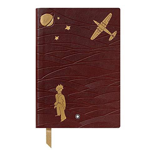 El portátil #146 Le Petit Prince Aviator está fabricado en piel marrón con estampado y hojas de oro. El diseño muestra a los pilotos y el avión. El portátil #146 dispone de papel a rayas y bordes dorados y de un marcapáginas doradas. Todos los produc...