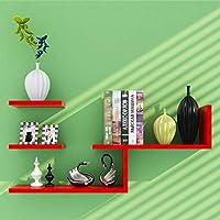 家具装飾壁掛け木製L字型フローティング収納棚モダンミニマリスト装飾本棚ラック