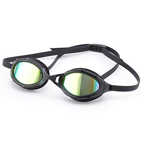 Gafas de natación polarizadas lentes de galvanoplastia gafas de buceo de gran visión sin fugas anti niebla chapado en oro