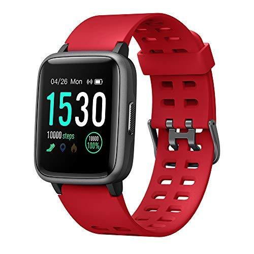 Smartwatch, Reloj Inteligente Impermeable IP68 Pulsera Actividad Hombre Mujer, Inteligente Reloj Deportivo Reloj Fitness con Pantalla Táctil Completa Pulsómetro Cronómetros para iPhone iOS Android