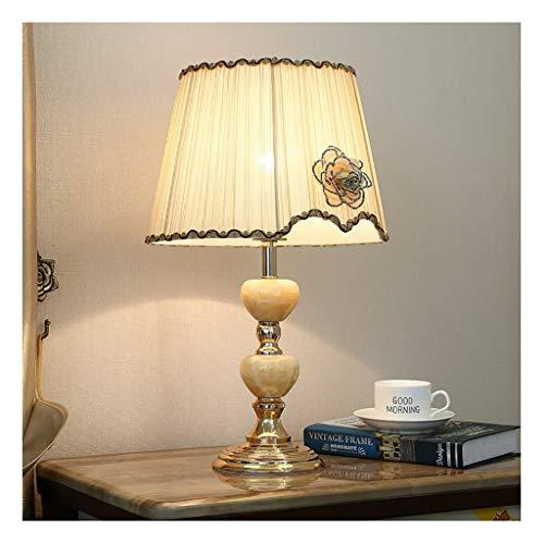 Lampara de Lectura Latón lámpara de mesa de cerámica y de Luz en la base con la tela de la cortina Mesilla de noche de la lámpara de noche lámparas de escritorio for el dormitorio, sala de estar, ofic