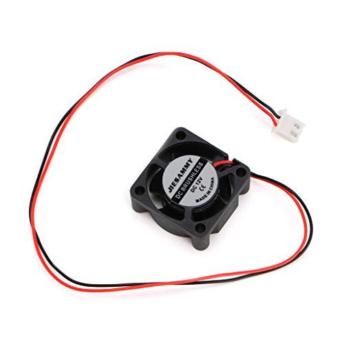 luosh 2-draads borstelloze koelventilator 2510S voor 3D Printer Onderdelen DC 12V, 25×25×10mm