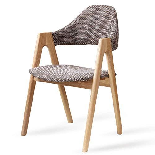 WSDSX Stuhl Retro Lounge Stühle Stoff Design Set Holz Stil Side Dining Office Lounge Stuhl Lüften Stoffkissen Wohnzimmer Sessel Massivholzrahmen Lagergewicht 150 kg (Farbe: Grau)