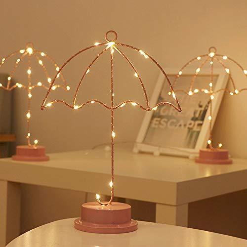MJZHJD Vector de la lámpara luz de la decoración decoración del Dormitorio luz de la Noche de la lámpara de Mesa Rosa Tamaño 22cm * 10cm * 31cm Luz de Pared